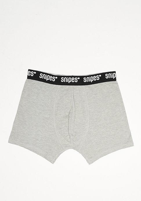 SNIPES Boxershort Jersey 3er black/charcoal/grey
