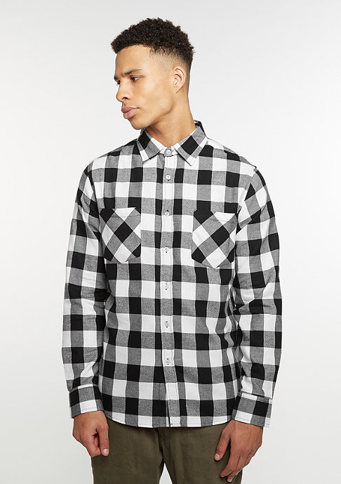 Urban Classics Checked Flanell Shirt black/white