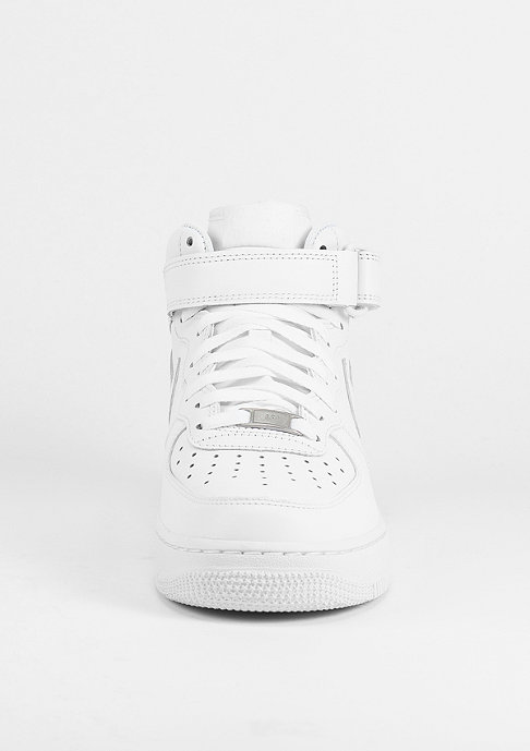 NIKE Schuh Air Force 1 07 Mid white/white
