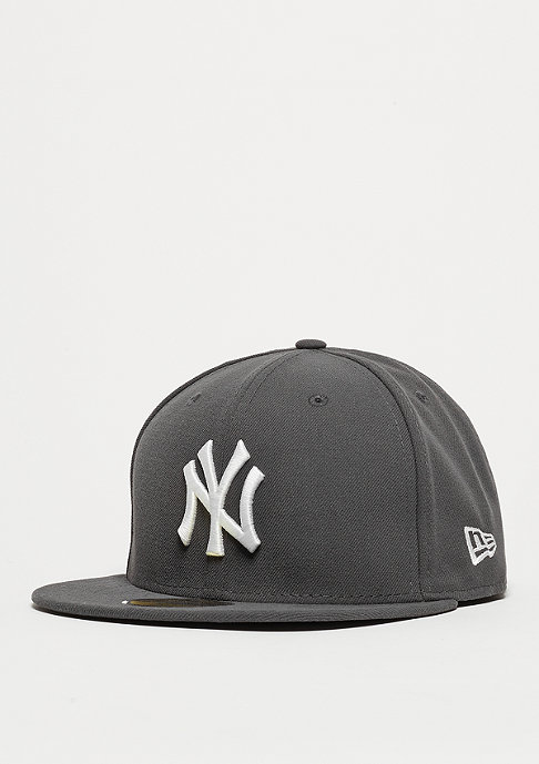 New Era Fitted-Cap 59Fifty Basic MLB New York Yankees graphite