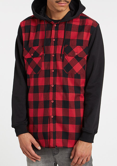 Urban Classics Hemd Hooded Check blk/red