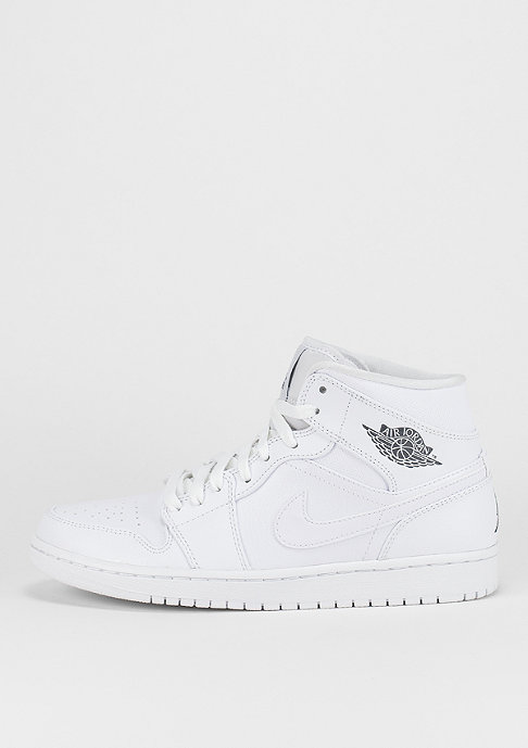 JORDAN Basketballschuh Air Jordan 1 Mid white/white