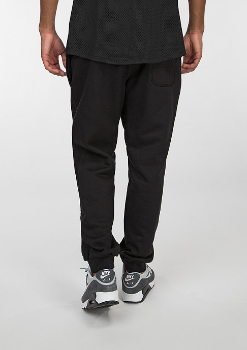 NIKE Trainingshose AW77 Cuff FLC black/white