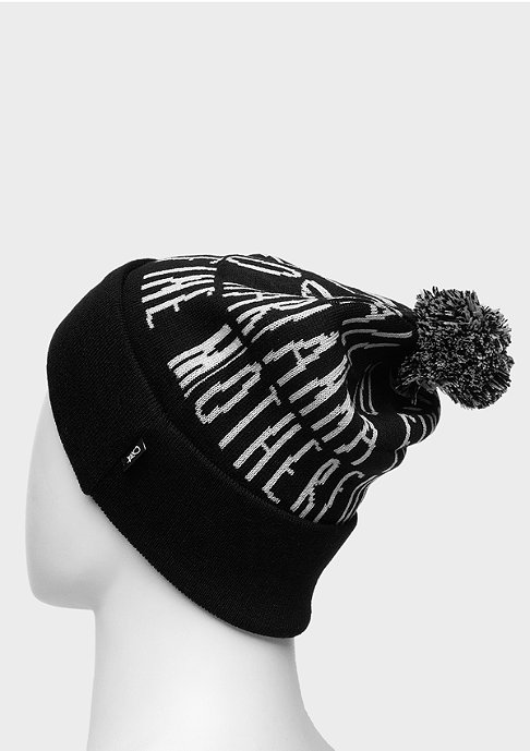 K1X Beanie Ball So Hard Bommel black/wht