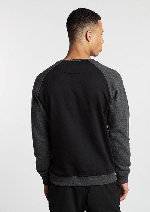 Urban Classics Sweatshirt 2-Tone Raglan blk/cha