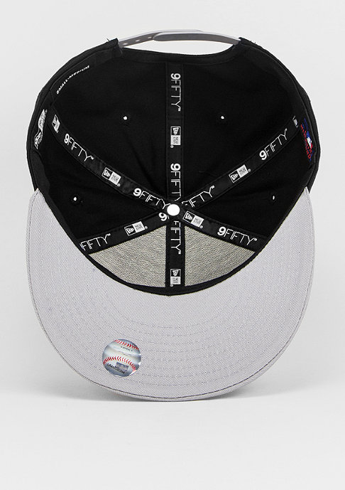 New Era Snapback-Cap 9Fifty Cotton Block MLB New York Yankees black/grey