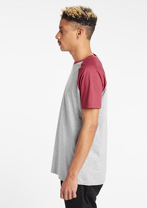 Urban Classics Raglan Contrast grey/ruby