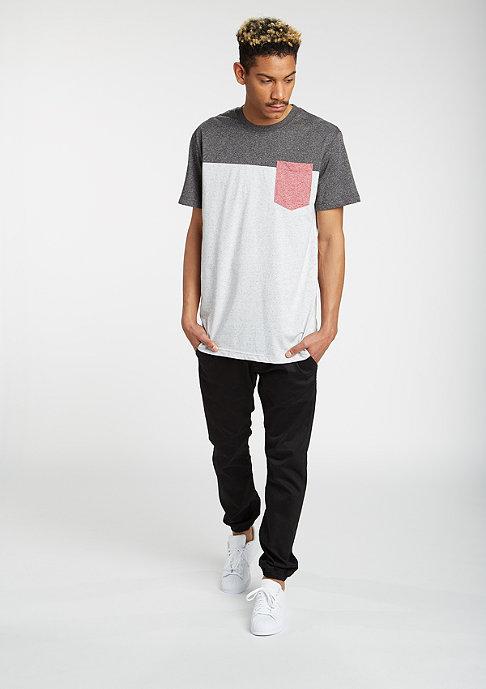 Urban Classics T-Shirt Raglan Contrast black/l.grey/ruby