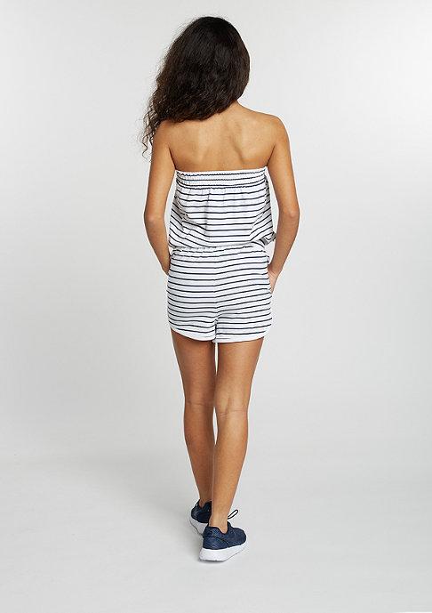 Urban Classics Hot Stripe Jumpsuit white/navy