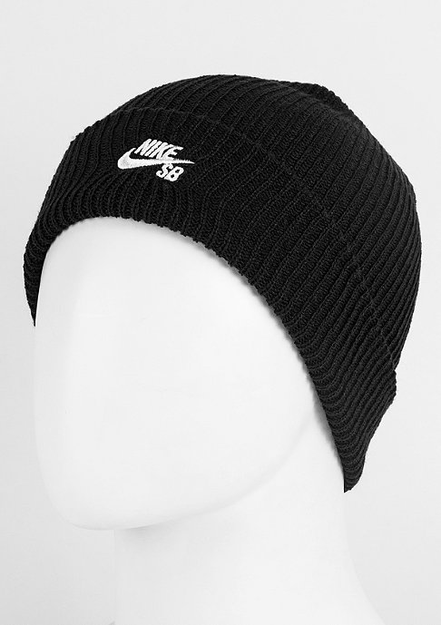 NIKE Beanie SB Fisherman black/white
