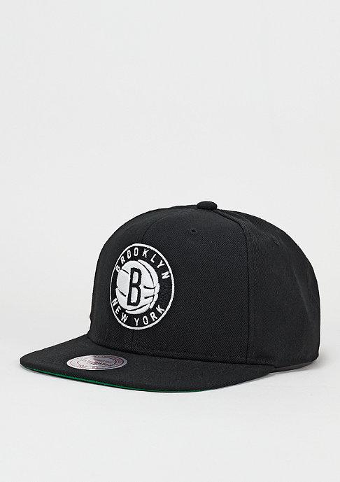 Mitchell & Ness Snapback-Cap Wool Solid Brooklyn Nets black