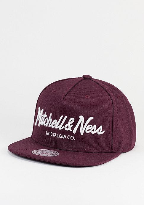 Mitchell & Ness Snapback-Cap Pinscript burgundy