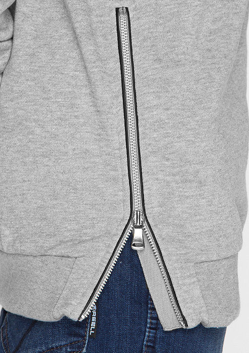 Urban Classics Sweatshirt Side Zip grey