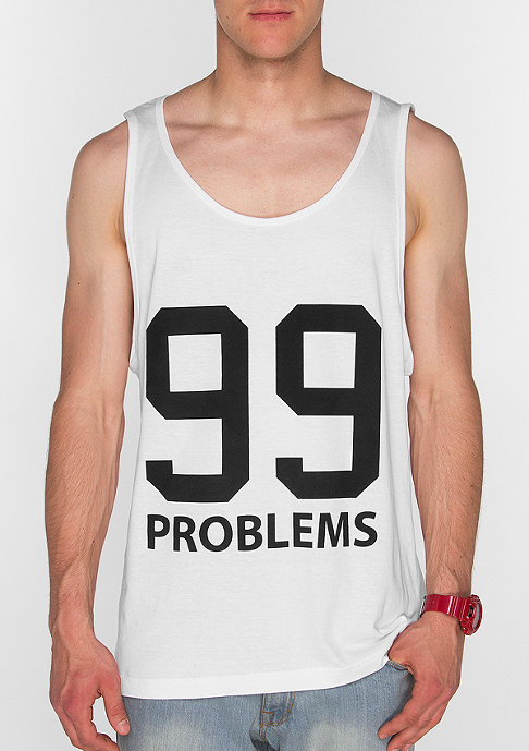 Mister Tee Tanktop 99 Problems white