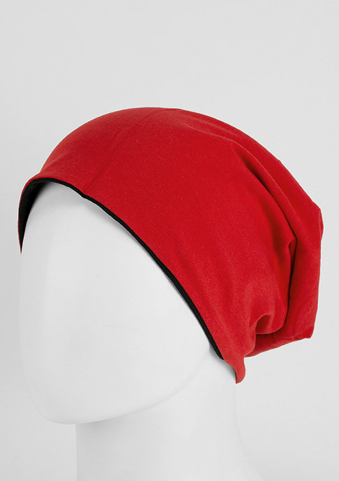 Masterdis Beanie Jersey Reversible black/red