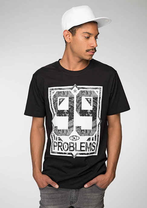 Mister Tee T-Shirt 99 Problems Marble black