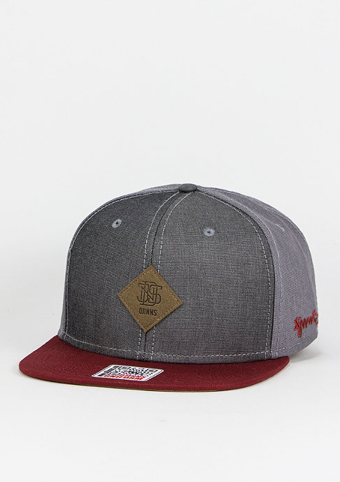 Djinn's Snapback-Cap Mix Canvas grey/wine