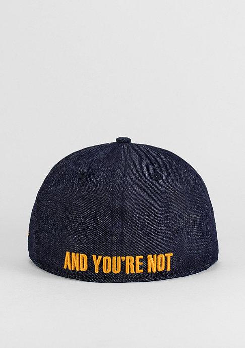 New Era Fitted-Cap Sorry I'm Classic navy/orange