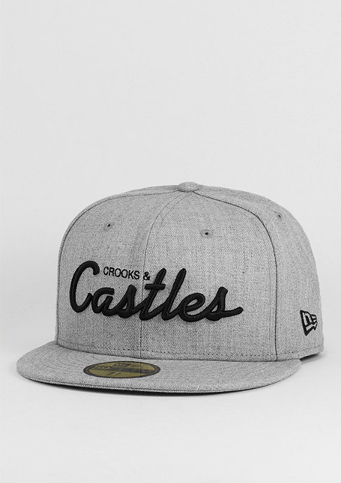 Crooks & Castles Fitted-Cap Team Crooks speckle grey