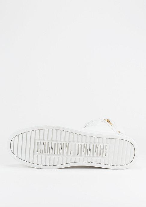 Criminal Damage Schuh Python Mid Top white