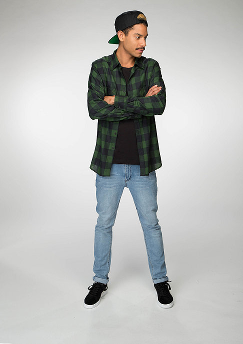 Urban Classics Checked Flanell Shirt black/forest