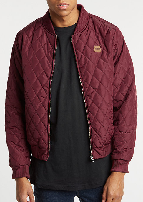 Urban Classics Diamond Quilt Nylon burgundy
