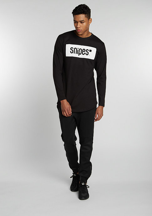SNIPES Longsleeve Box Logo Rubber black/shiny white