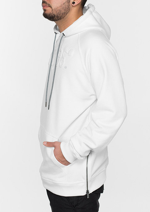 SNIPES Hooded-Sweatshirt Chenille Luxury white/white/black