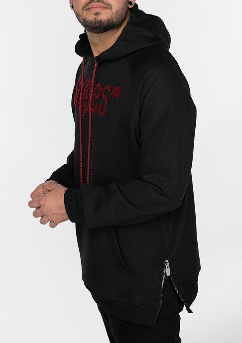 SNIPES Hooded-Sweatshirt Chenille Luxury black/black/red