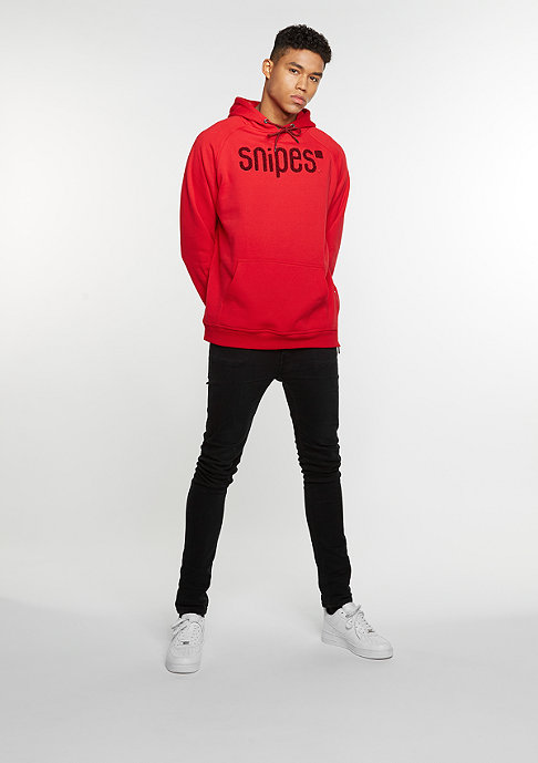 SNIPES Hooded-Sweatshirt Chenille Luxury red/red/black