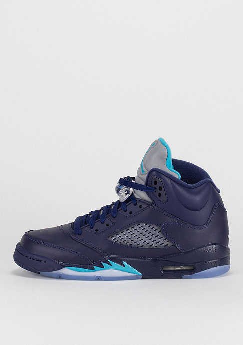 JORDAN Air Jordan 5 Retro navy/turquoise/white