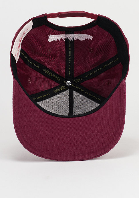 Mitchell & Ness Netz burgundy