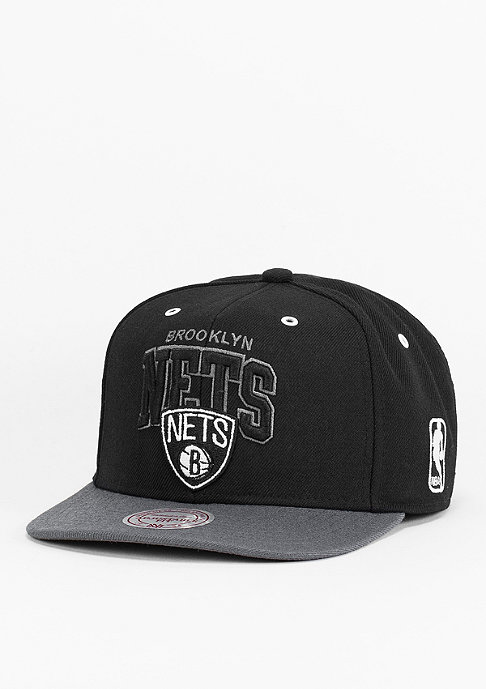 Mitchell & Ness Snapback-Cap BGW2 NBA Brooklyn Nets black/charcoal