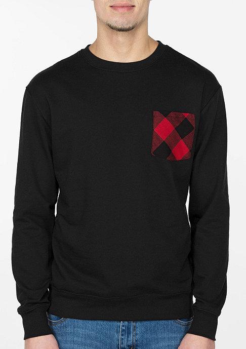 Urban Classics Sweatshirt Contrast Pocket black/flanell