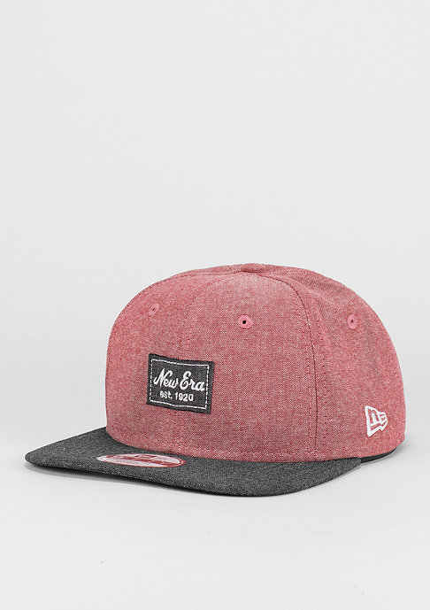 New Era Snapback-Cap 9Fifty Two Tone Chambray Patch scarlet