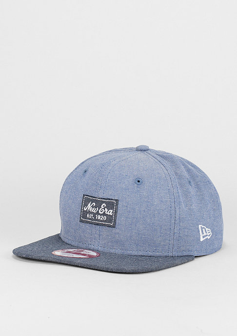 New Era Snapback-Cap 9Fifty Two Tone Chambray Patch blue/navy
