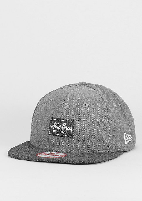 New Era Snapback-Cap 9Fifty Two Tone Chambray Patch grey