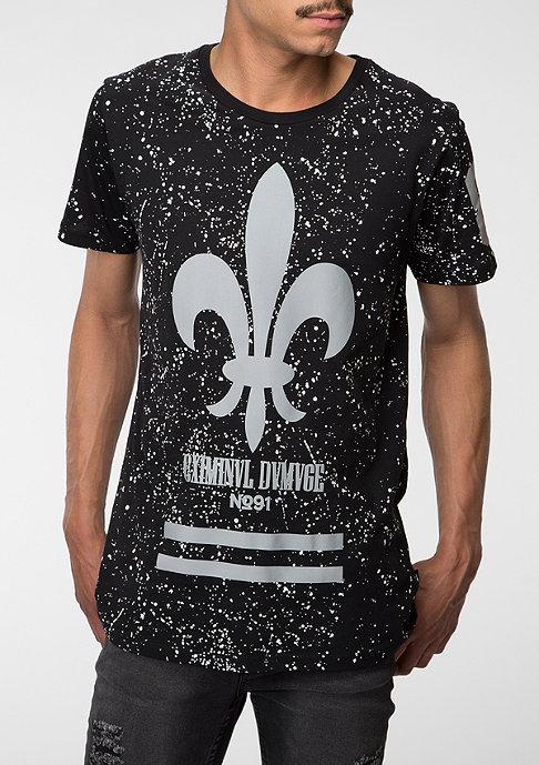 Criminal Damage T-Shirt Splatter Reflective black