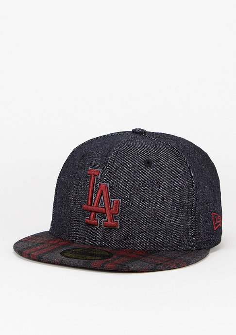 New Era Fitted-Cap PlaidDen 59Fifty MLB Los Angeles Dodgers