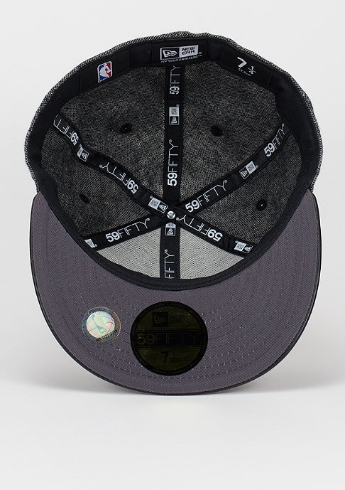 New Era Fitted-Cap Leather Tweed NBA Chicago Bulls black