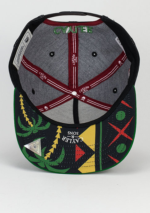 Cayler & Sons Snapback-Cap Fight Back black/rasta