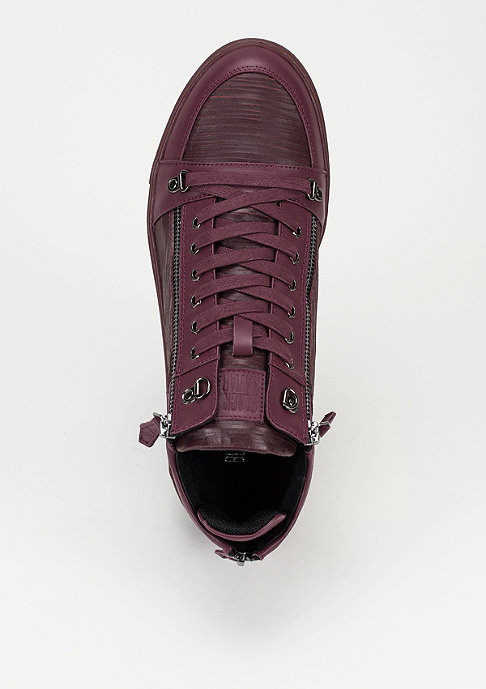 Black Kaviar BK Shoes Moto burgundy