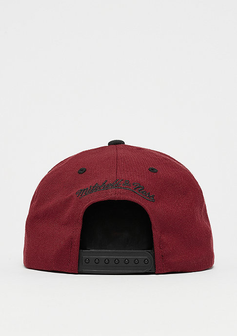 Mitchell & Ness Snapback-Cap Box Logo burgundy/black