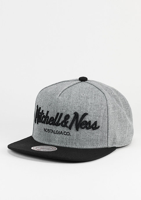 Mitchell & Ness Snapback-Cap Pinscript heather grey/black
