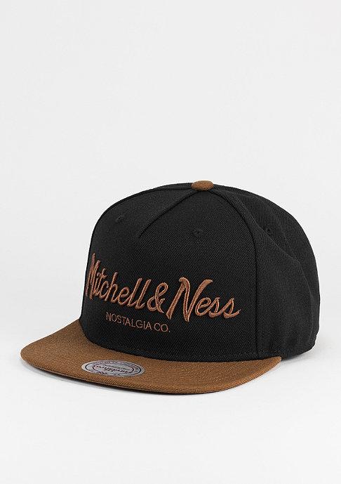 Mitchell & Ness Snapback-Cap Pinscript black/tan