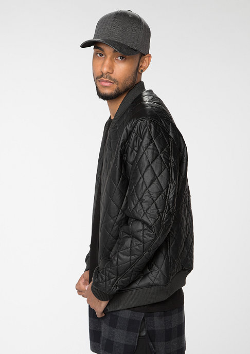 Urban Classics Jacke Diamond Quilt Leather Imitation black