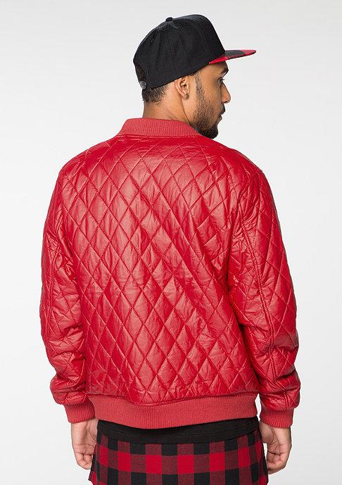 Urban Classics Jacke Diamond Quilt Leather Imitation firered