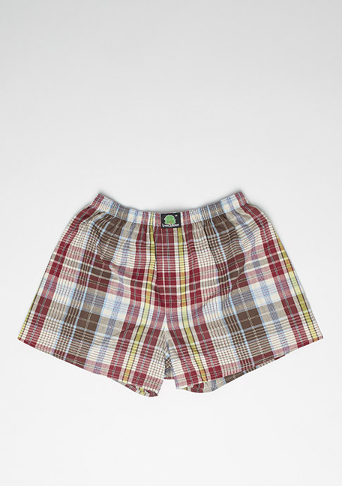 Treesome Boxershort Plaid red/yellow