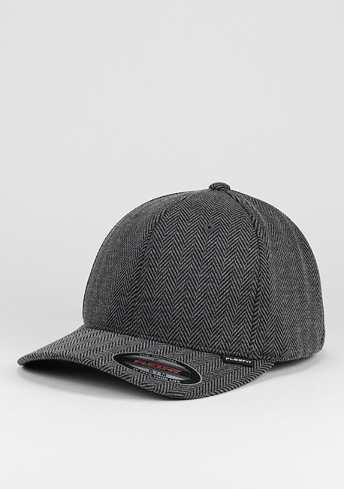 Flexfit Baseball-Cap Herringbone Melange black/grey