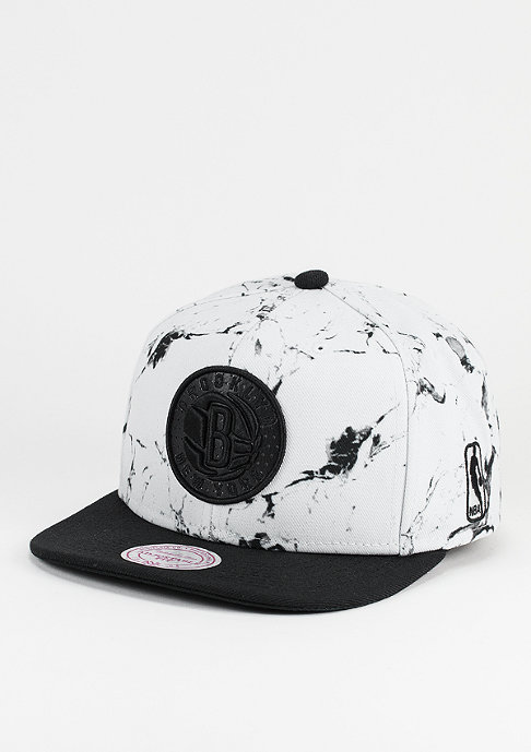Mitchell & Ness Marble Logo NBA Brooklyn Nets white